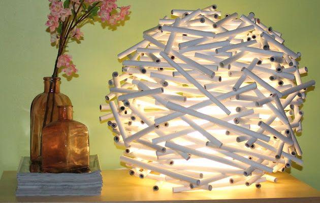 Como hacer una lampara con papel reciclado. Completo Tutorial