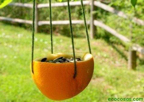 Comedero para aves natural y biodegradable duendevisual - Comedero de pajaros ...