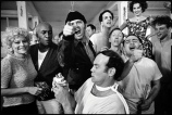 The cast of One Flew Over the Cuckoo's Nest posing for their picture on location at the Oregon State Hospital, Salem, Oregon 1974