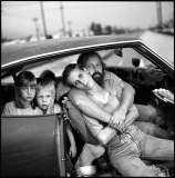 The Damm family in their car,Los Angeles, California 1987