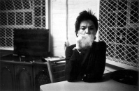 Mona at a Table Blowing Smoke, 1976