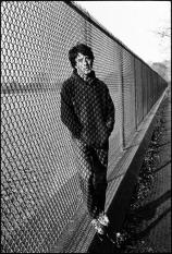 Dustin Hoffman at the resevoir in Central Park between takes, Marathon Man, Manhattan, New York, 1975