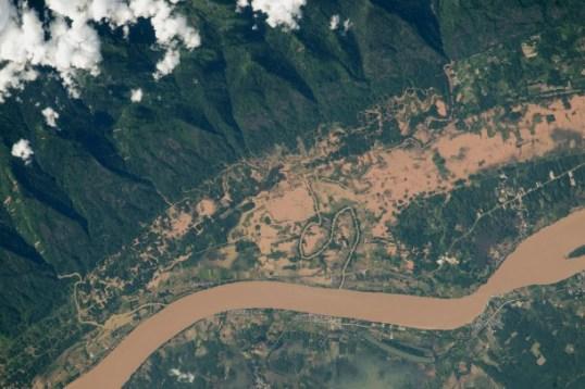 El río Mekong, en la frontera entre Tailandia y Laos.