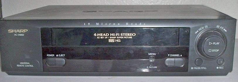 Sharp_VC-H982_VHS_VCR